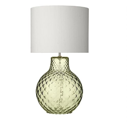 Azores Table Lamp Olive Green Dimpled Glass Large Base Only (Hand made, 7-10 day Delivery)